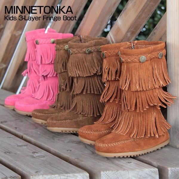 3 layer fringe boots kidsarchie Rakuten Global Market  MINNETONKA Mine Tonka Kids 3 pEoxwAac