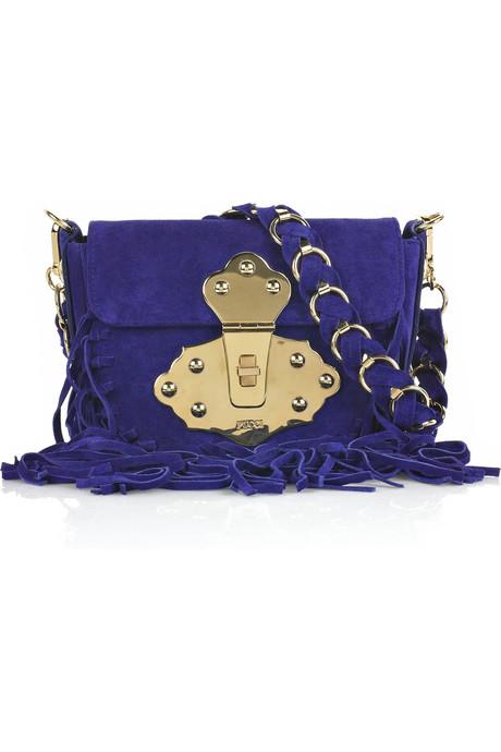 bebe suede blue fringe purseEmilio Pucci Fringed suede shoulder bag All Handbag Fashion 0XzDGafL