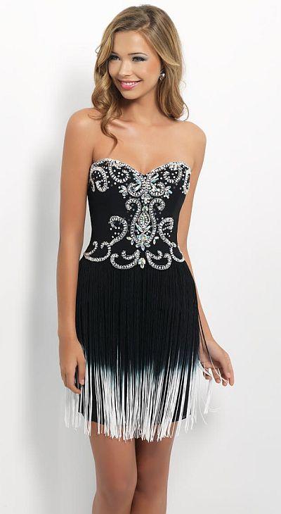 black beaded fringe dressBlack by Blush C139 Beaded Cocktail Dress with Fringe   French Novelty uUnD3Hbx