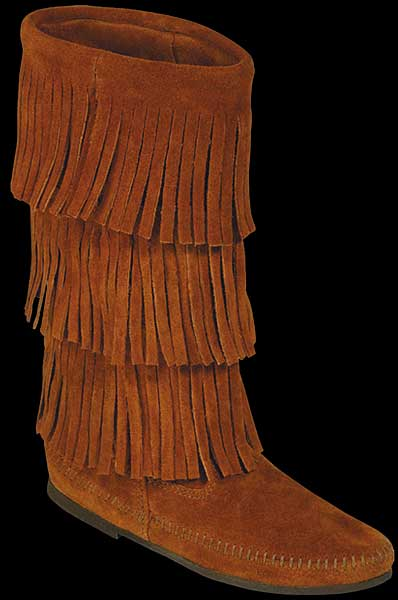 black brown fringe moccasin bootsSuede Fringe Calf Boot by Minnetonka Moccasin ZMb0eWAW