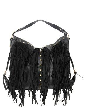 black fringe bag new lookNew Look New Look Fringe Hobo Bag at ASOS s5iqpn68