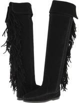 black fringe suede bootsMinnetonka Womens Boots   ShopStyle h92eoZPG