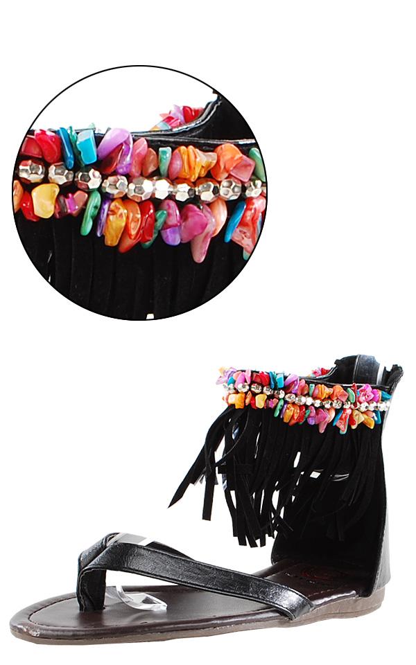 black fringe thong sandalsRed Circle Carmel Black Pebble and Fringe Thong Sandals and shop 8TETpzJp
