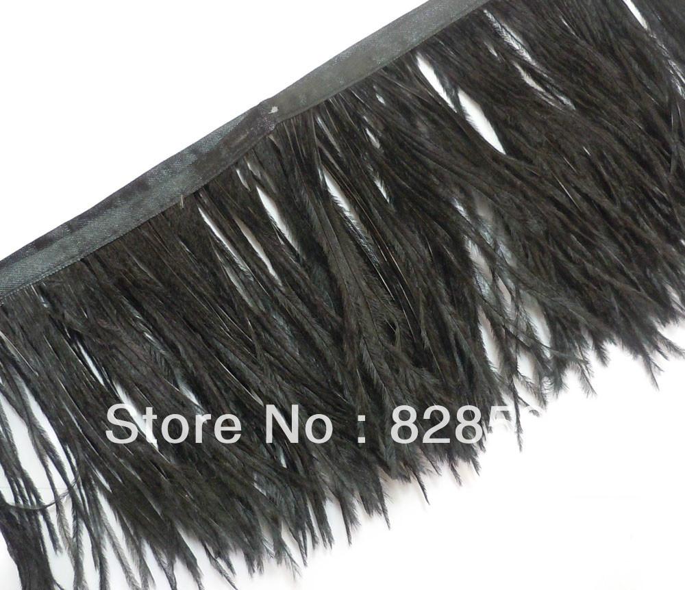 black fringe trim australiaAliexpresscom   Buy F102 Black Long Ostrich feather fringe Trim OQZ28S7N