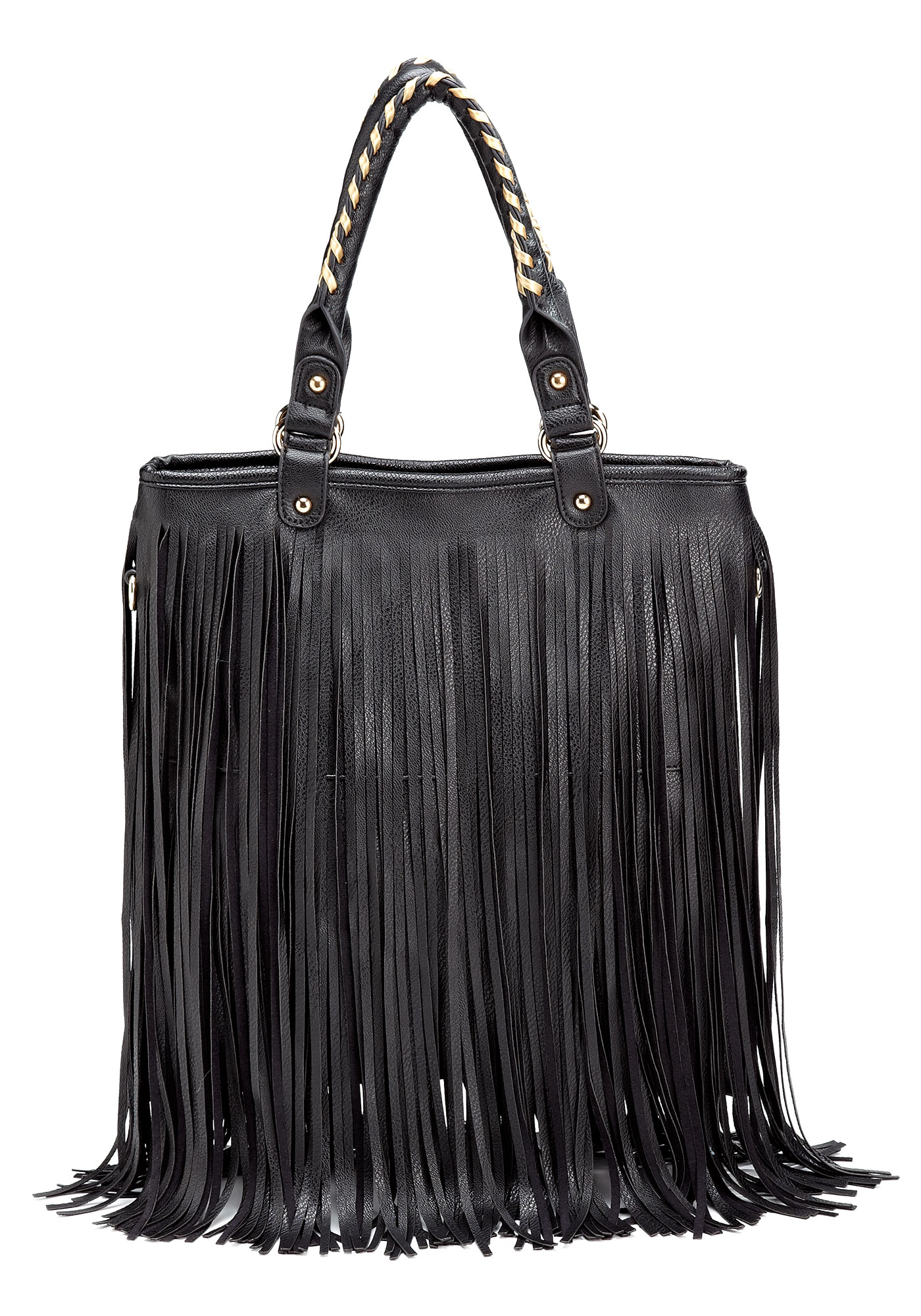 black leather fringe bagBlack Faux Leather Fringe Bag Fabulous vc1DBk5t