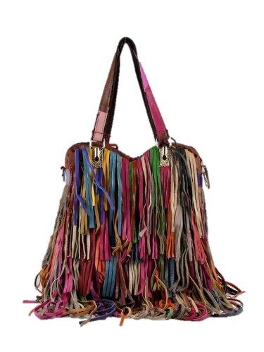 designer leather fringe pursesGenuine Leather Fringe Handbags Multicolor Purses SALE   Bag Madness kGfvrvdh