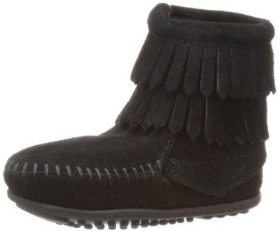 double fringe boots toddlersAmazoncom  Minnetonka Double Fringe Boot  ToddlerLittle KidBig 5A1lx6XS