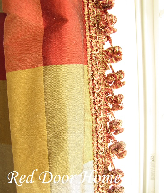drapery fringe trimmingRed Door Home  How to Add Decorative Trim to Curtains uLXCNL0F