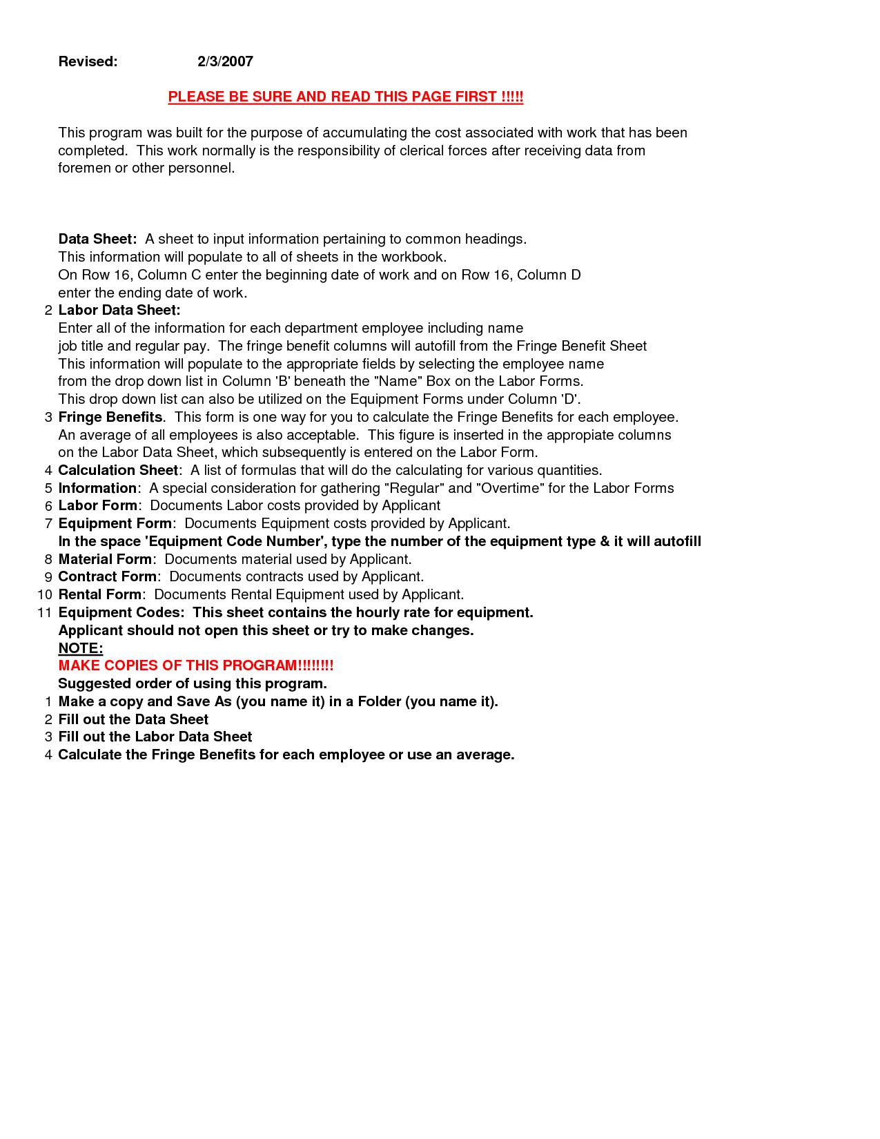 fema fringe benefits calculation worksheetFEMA PA Excel Forms Workbook crKGaBHr
