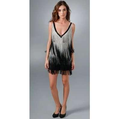 flapper style fringe dressesFoley   Corinna Ombre Fringe Dress ThisNext tRQb0FRp
