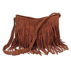 fringe amazon purses handbagsAmazoncom   THG Brown Fringe Tassel Shoulder Messenger Stylish U24gvqHy