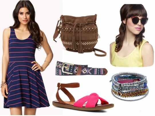 fringe bag forever 21 clothing onlineFabulous Find of the Week  Forever 21 Striped Skater Dress PTDQBsZQ