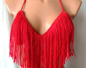 fringe bikini corset top with strapsPopular items for fringe top on Etsy 0gxBrahi
