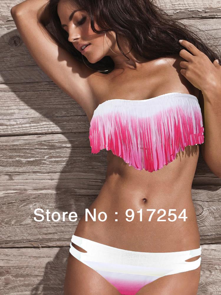 fringe bikini push up padding2013 Hot Sale Swimwear Sexy Lady Fringe Victoria Push Up Padded xstO7rD9