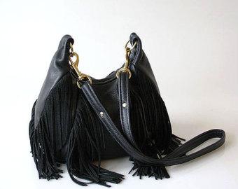 fringe black leather backpack pursePopular items for fringe leather bag on Etsy GlHimBgU