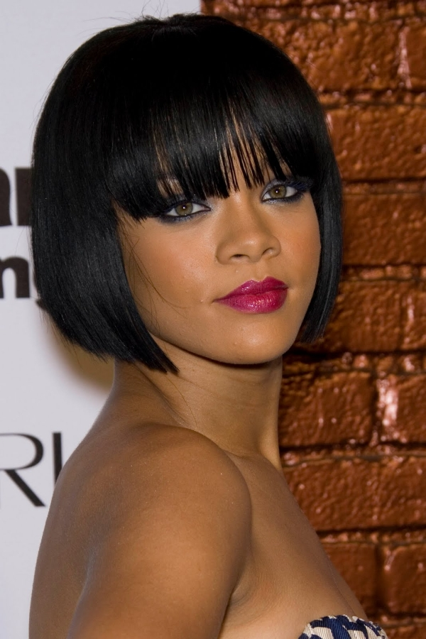 fringe bob hairstyles with bangs for black women30 Short Hairstyles for Black Women PgezKx4Q