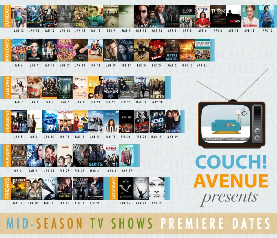 Tv show premiere dates in Melbourne