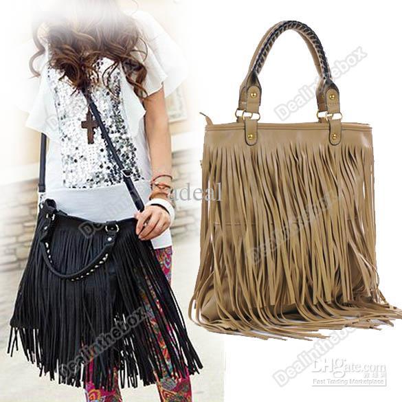 wholesale fringe pursesWholesale Shoulder Bag   Buy Womens Fashion Punk Tassel Fringe EaucGMnA