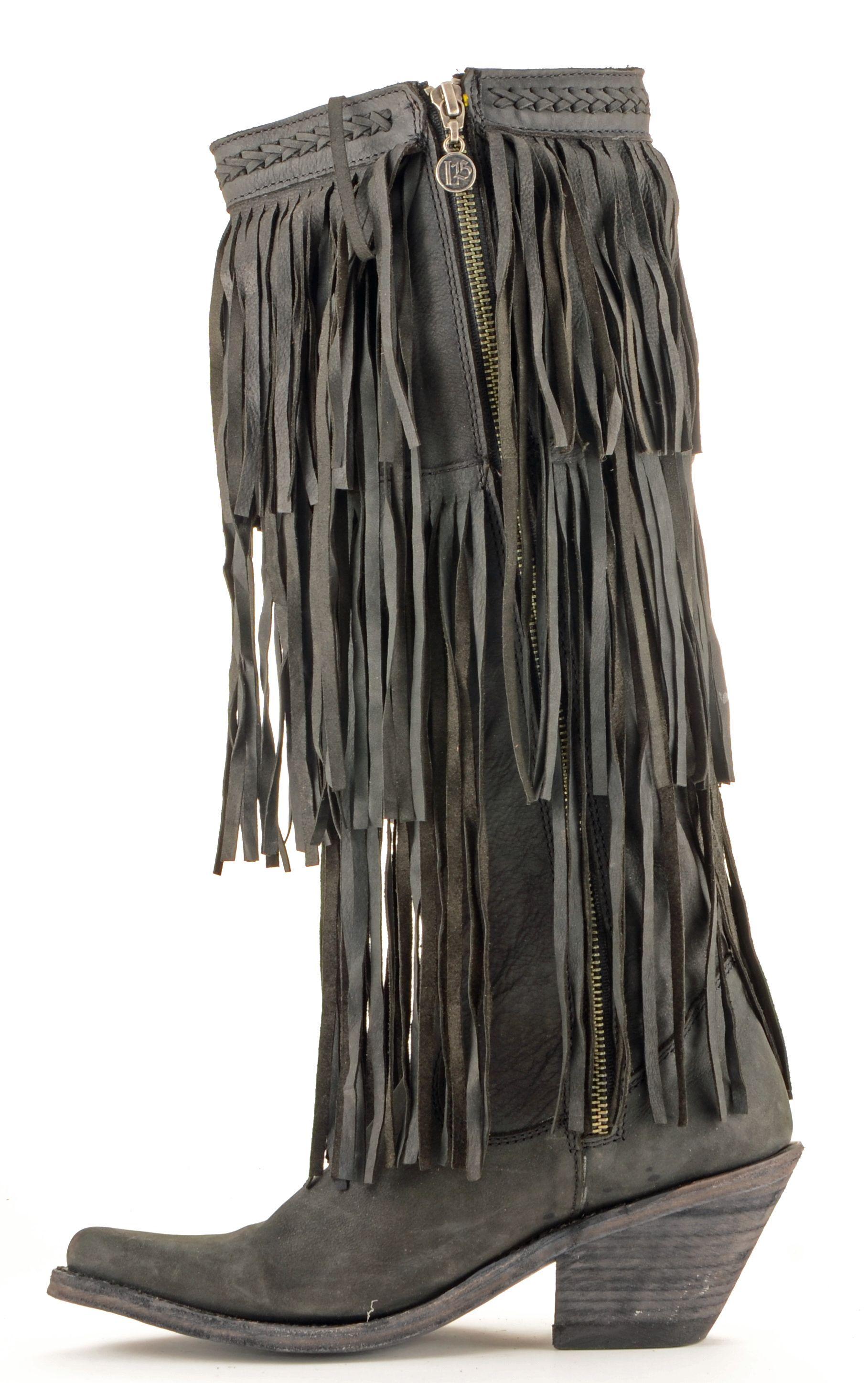 womens black fringe bootsWomens Liberty Black Three Layer Fringe Boots Style Lb 71126 zRE4u7wV