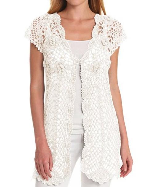 womens crochet fringe vestPin My Style   70s Fashion Crochet Fringe Vest with Silver Cuff Bangles H4B1tL2k