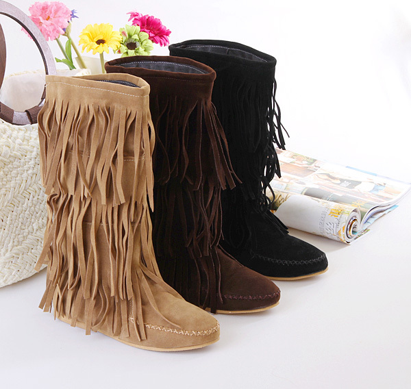 womens fringe boots cheapOnline Get Cheap 3 Layer Fringe Boots for Women Baa3GqaT