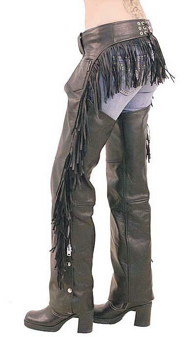 womens fringe leather chapsWomens Leather Chaps with Rear Fringe KDTgQKLx