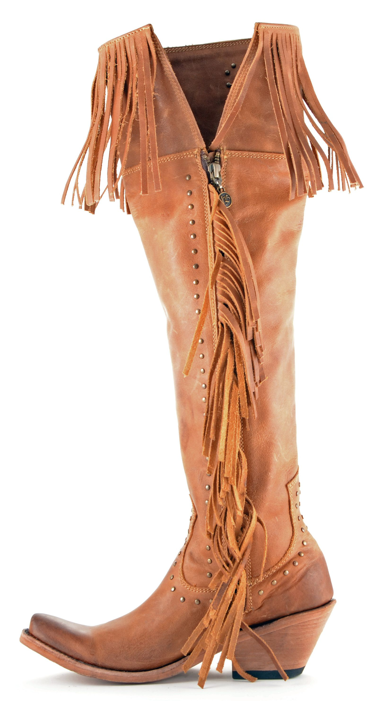 Womens Liberty Black Collar Fringe Boots Tan Style Lb 71167 | The ...