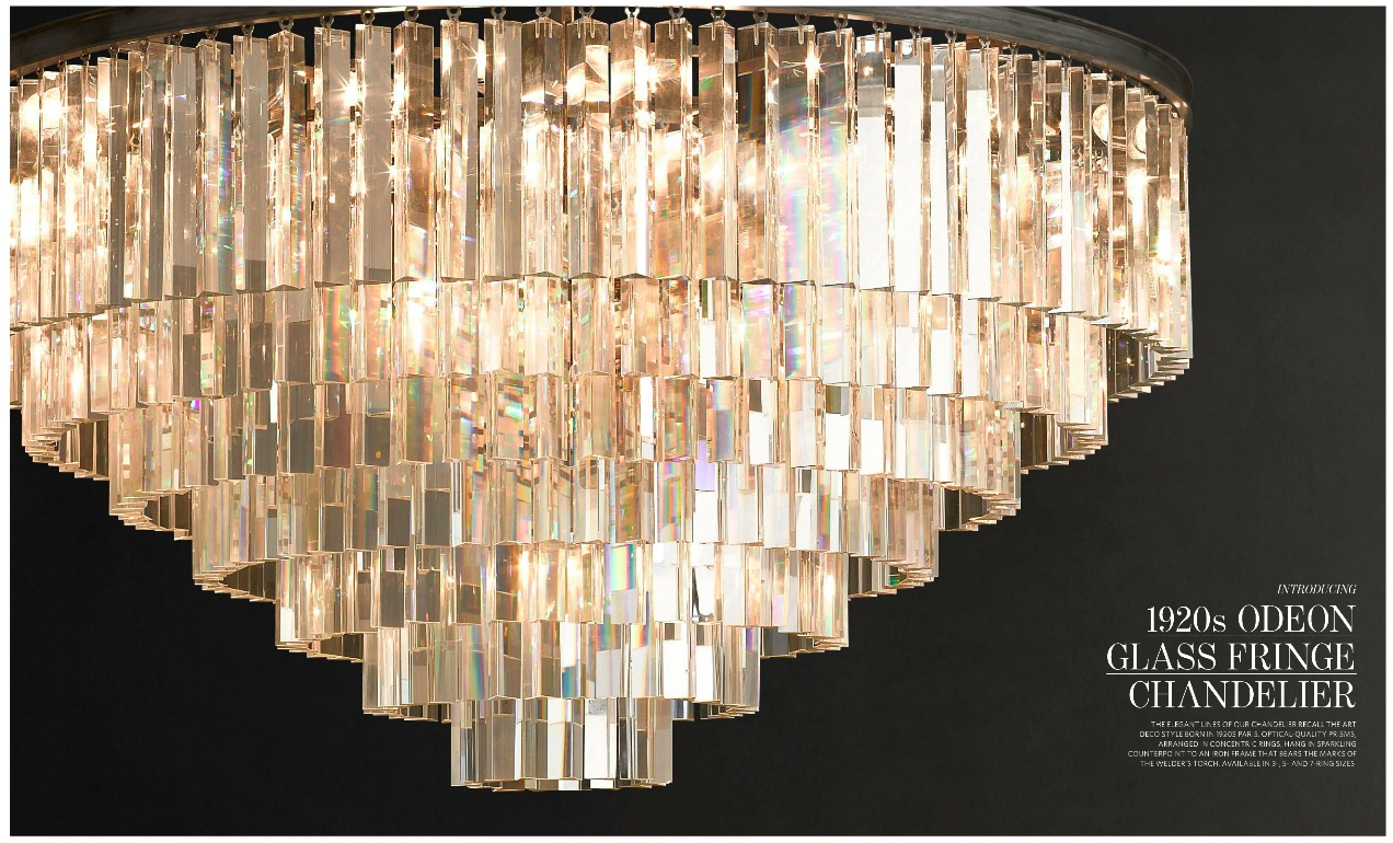1920s odeon glass fringe 5-ring chandelierDesecration Hardware 4  1920s Odeon Glass Fringe Chandelier dEJd95Ag