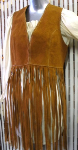 70's long fringe vest70s Vintage Style Hippie Leather Vest Custom Made Long Fringe xNS1rzQM