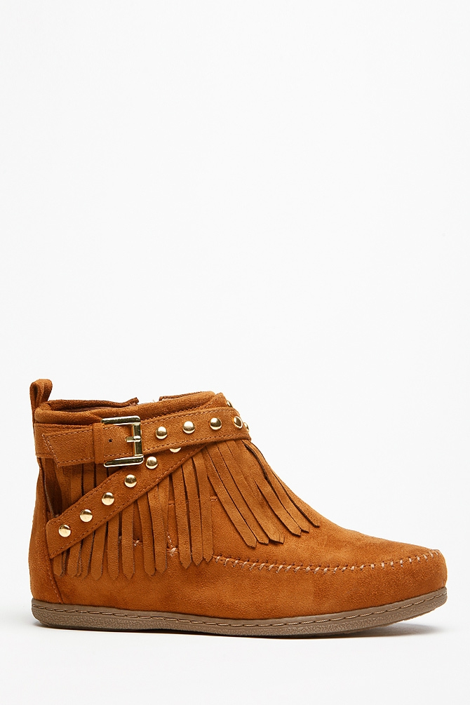 ankle girls fringe moccasin bootsSoda Fringe Gold Accent Tan Moccasin Ankle Boots   Cicihot Boots z6aXU27c