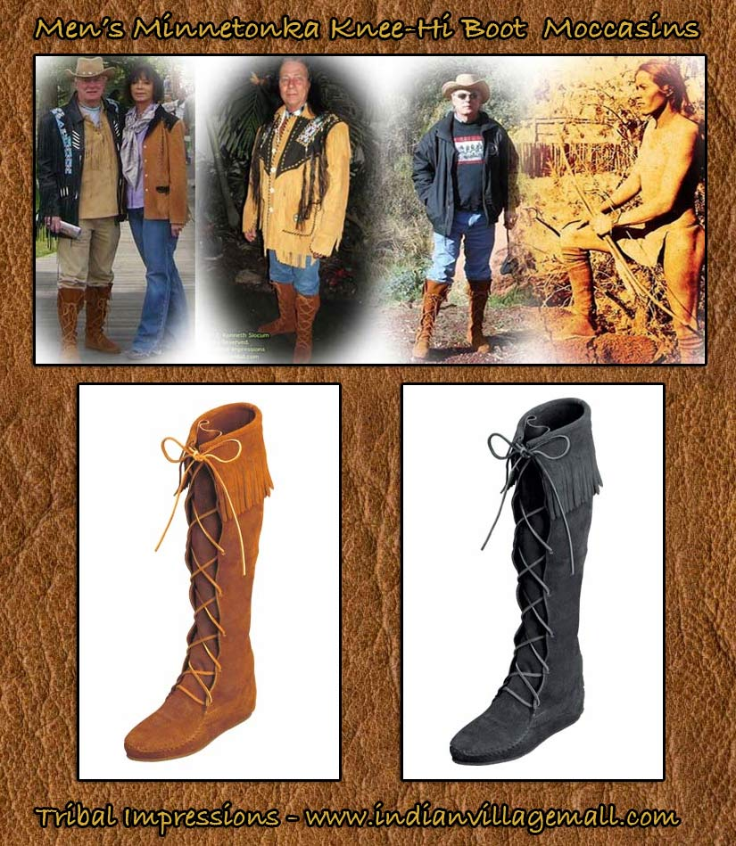 ankle knee high fringe moccasin bootsMens Boot Moccasin Collection From Tribal Impressions HuPgvaa9