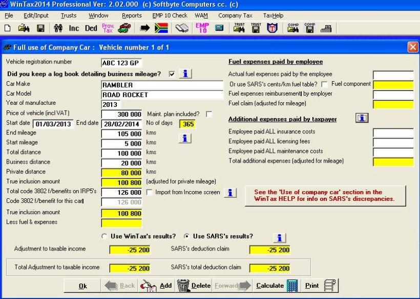 auto fringe benefit calculatorWinTax gmxRGVR6