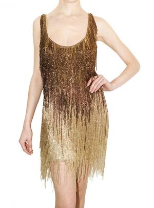 beaded fringe dressRoberto Cavalli Pre Fall 2010 Beaded Fringe Dress   Celebrities CXSKyUJt