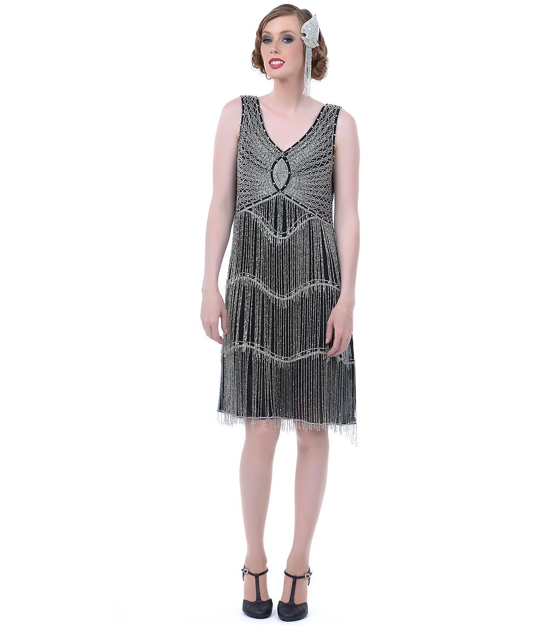 beaded fringe flapper dress2JqUoFsXeB_Unique_Vintage_ MWhxxfD7