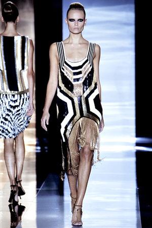 black and gold fringe dressgucci spring 2012 rtw metallic black and gold fringe dress profile QeZs05xJ