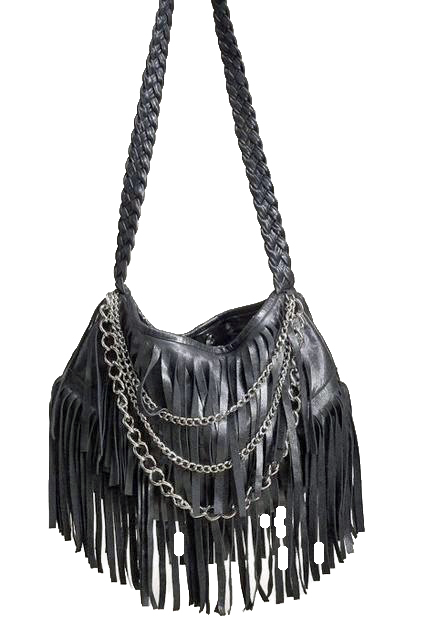 black fringe leather pursesJJ Winters Leather Fringe Chain Bag Style 254C Free Shipping stmOFW1A