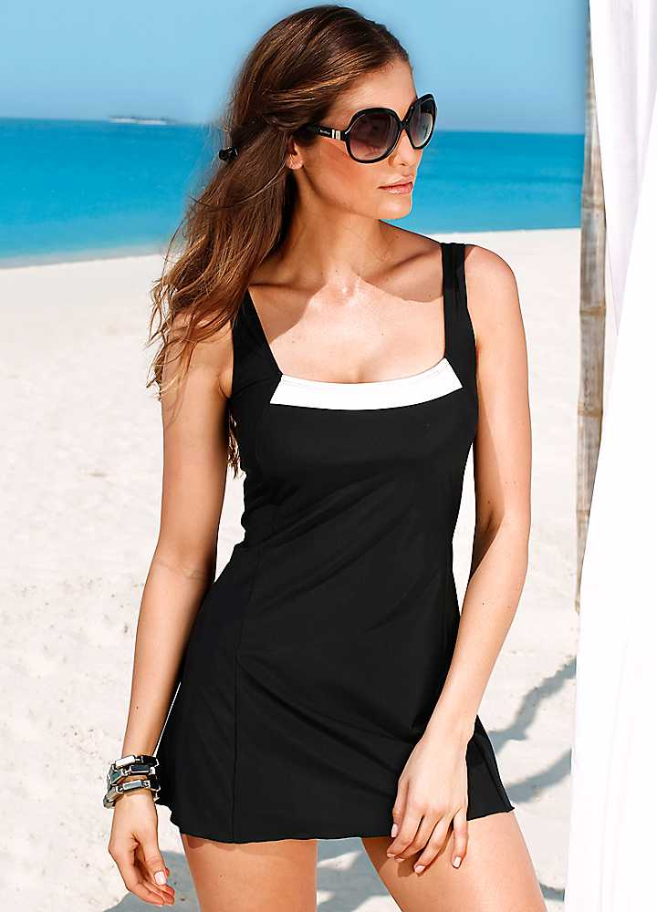black fringe trim swimdressSwim Dresses Swimsuits Womens Swimwear365 bTUZOdTI