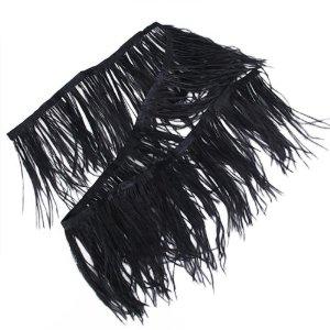 black fringe trim ukOstrich Feather Dyed Fringe 1 Yard Trim Black  Amazoncouk X7UcadbT