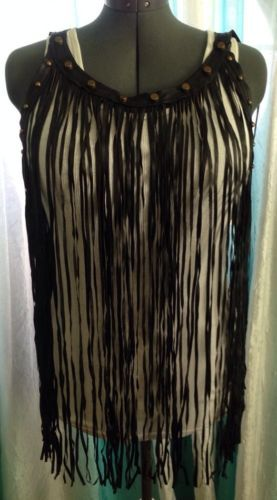 black fringe vest plus sizeFaux Leather Black Studded Fringe Vest NWT OS Plus Size Sexy Trendy KRgrHSds