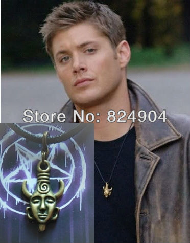 dean's necklace supernatural pendant protection amuletHigh Quality 1PC Supernatural Inspired Deans Amulet Dean AavF8u1g