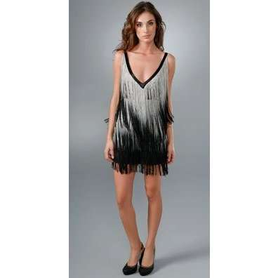 flapper style fringe dressesFoley   Corinna Ombre Fringe Dress ThisNext tRQb0FRp