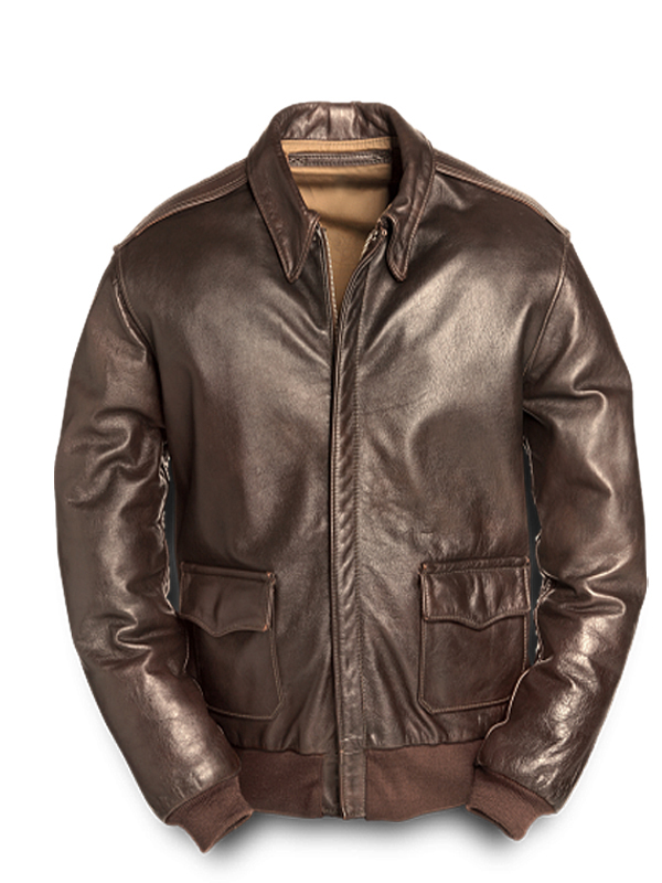 fringe a2 flight jacket historyBerylez A2 Bomber Flight Jacket   Leather4sure Brown Bomber Jackets hPJB934a