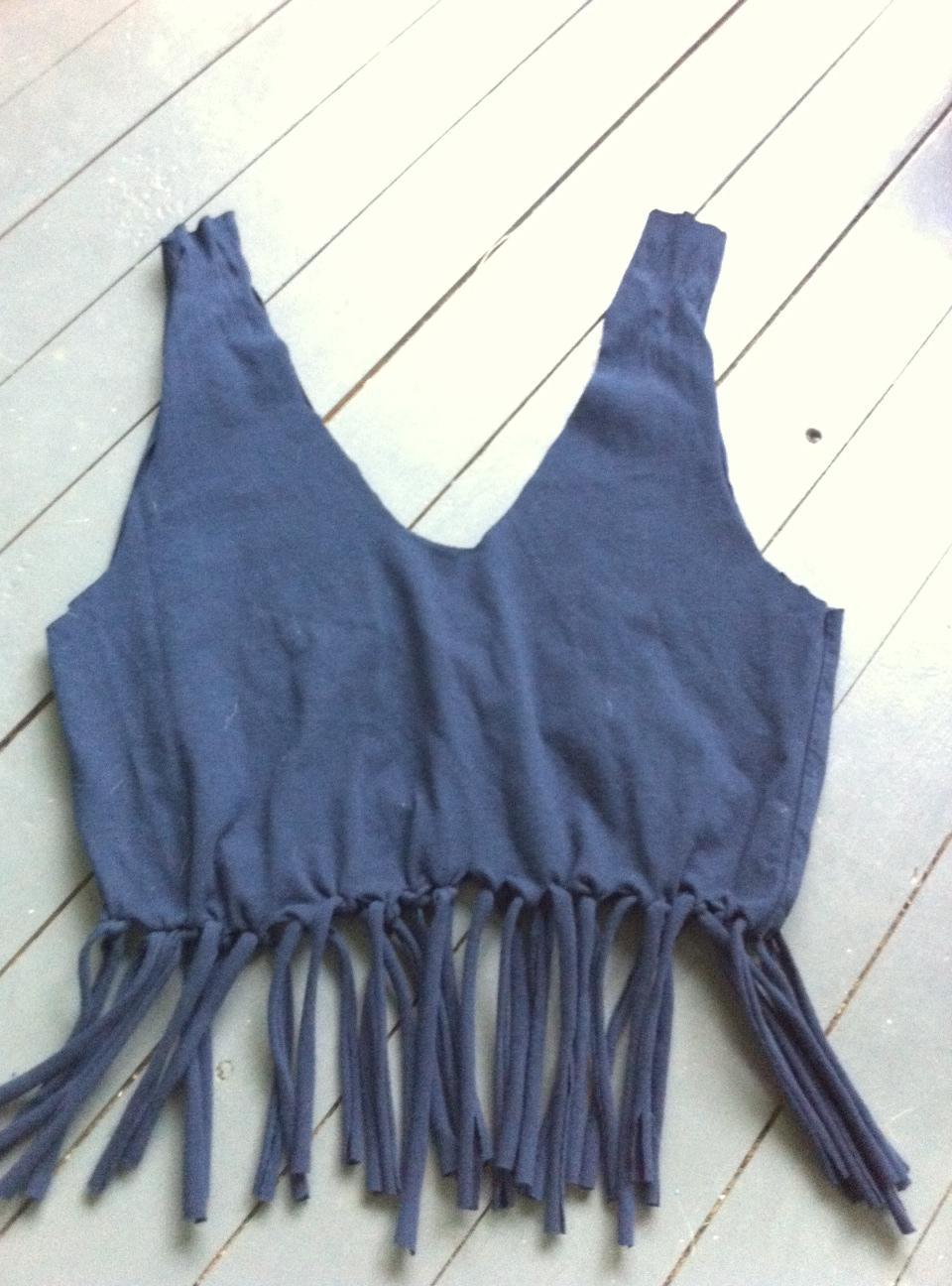 fringe bag from t shirtDIY No sew fringe Tshirt tote bag Tealou Sweetpea bySyBU5M