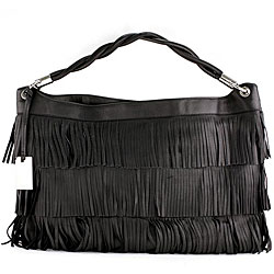 fringe bag furlaFurla Halley Onyx Leather Fringe Hobo Bag Overstockcom Shopping IvNxLKaC