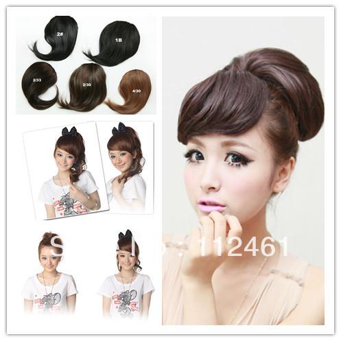 fringe bangs clip ons20pcslot Wholesale HairDo Clip On Front Side Bang Fringe Hair aSWtR3ta