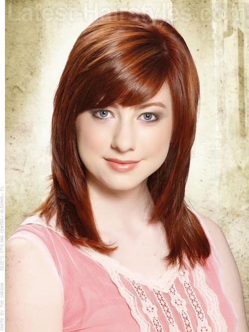 fringe bangs dark auburn brown hair colorRed Hair Beauty  The 12 Most Gorgeous Shades of Red Hair Ever P56RdfBq
