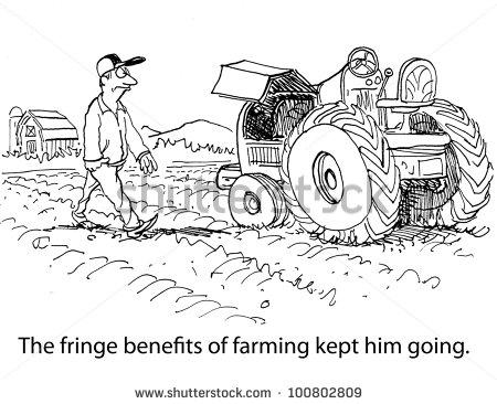 fringe benefitsThe Fringe Benefits Of Farming Kept Him Going Stock Photo CUTFoEuF