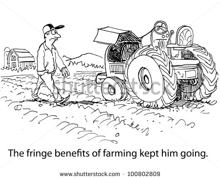 fringe benefitThe Fringe Benefits Of Farming Kept Him Going Stock Photo hyxaXsDt