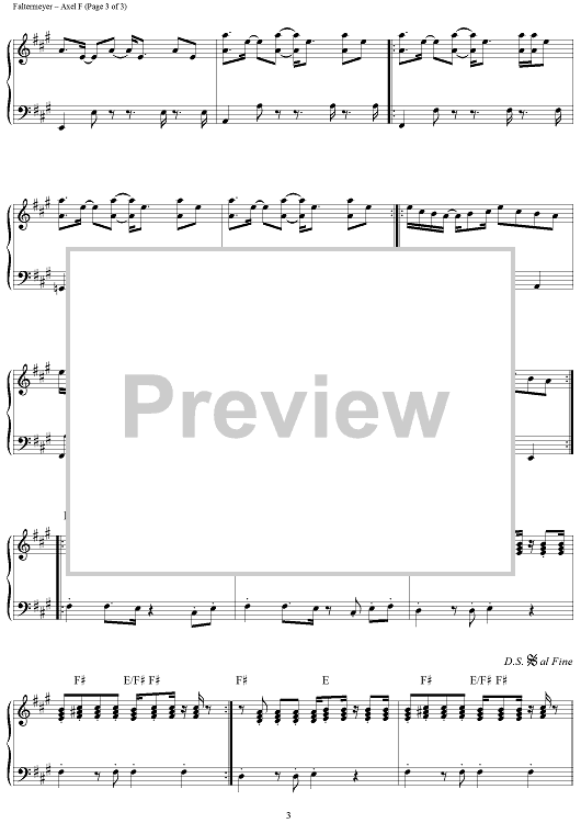fringe beverly hills cop theme song nameAxel F  from Beverly Hills Cop  Sheet Music   OnlineSheetMusic b6dRQnoL