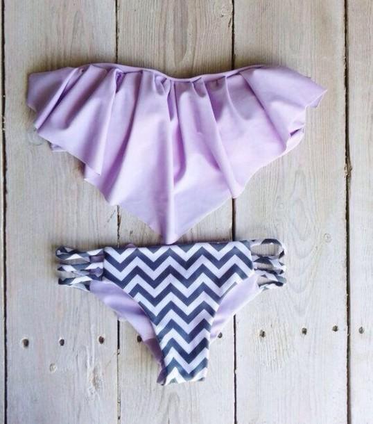 fringe bikini chevron careersThe best bikini lavender   Wheretoget VtiipyTy